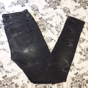 Miss Me | Black & Grey Skinny Cuffed Jeans